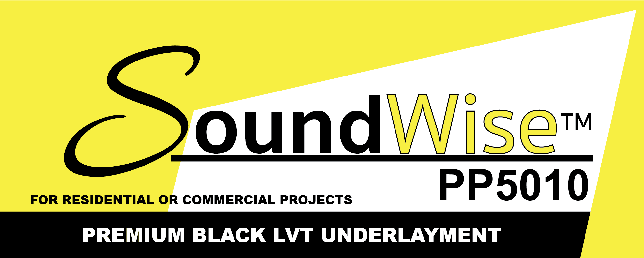 Soundwise™ PP 5010 Premium Black LVT Underlayment with Lapwise™ Seam Sealing Technology by Wise Manufacturing