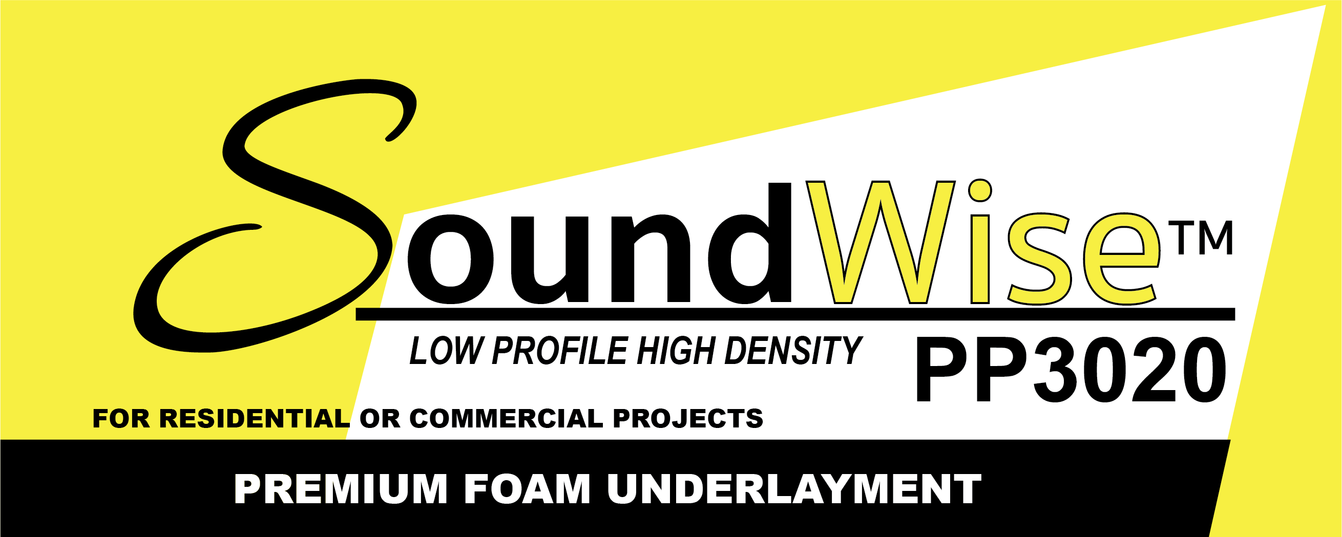 Soundwise™ PP3020 Low Profile High Density Premium Foam Underlayment