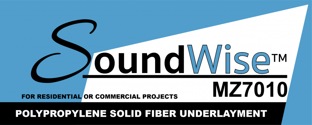 Soundwise™ MZ 7010 Polypropylene Solid Fiber Underlayment by Wise Manufacturing