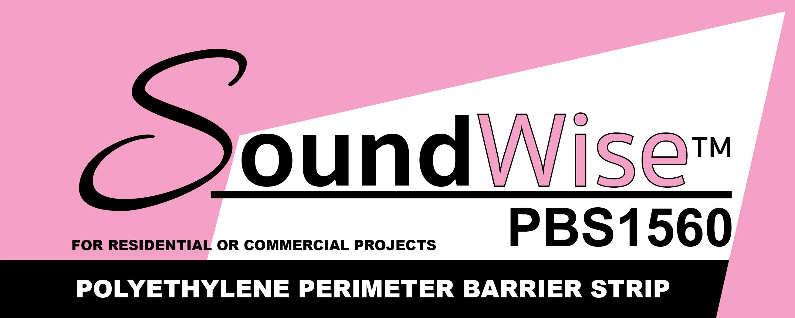 Soundwise™ PBS 1560 Polyethylene Perimeter Barrier Strip